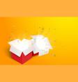 open box with confetti vector image