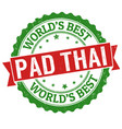 pad thai sign or stamp vector image vector image