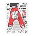 poster hip hop dance battles of legs vector image vector image
