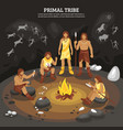 primal tribe people vector image vector image