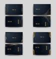 Print business card golden luxury