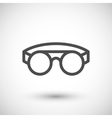 Protective welding goggles line icon vector image vector image