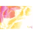 Red and yellow watercolor flow abstract background vector image vector image