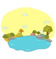 River Landscape Scene vector image