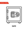 safe icon thin line vector image vector image
