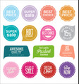 sale stickers and tags collection 2 vector image vector image