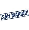 san marino blue square stamp vector image vector image