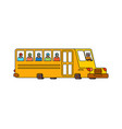 school bus contour style isolated yellow bus for vector image vector image