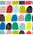 seamless abstract pattern with hand drawn shapes vector image vector image