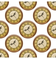Seamless pattern of vintage clocks vector image vector image