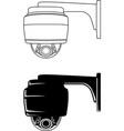 security camera 1 vector image vector image