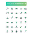 set 30 line icons leisure and entertainment vector image