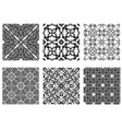 set abstract patterns vector image vector image
