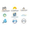 set real estate logo vector image vector image