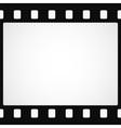 Simple black film strip background vector image