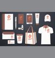 stationery branding corporate identity mockup vector image vector image
