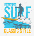 surfing surf themed graphics for promotion ads t vector image vector image