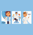 team doctors and other hospital workers set vector image