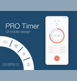 timer application ui design concept vector image vector image