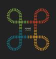 train loop track logo railroad railway simple vector image vector image