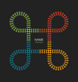 train loop track logo railroad railway simple vector image