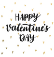 Valentine s Day Calligraphic Card vector image vector image