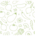 vegetables seamless pattern linear graphic vector image vector image