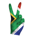 victoria finger gesture with south africa flag vector image