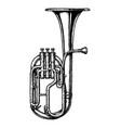 vintage of tenor horn vector image vector image