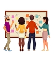 Young creative business people brainstorming ideas vector image