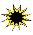 comic bubble icon vector image