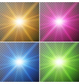 four different color of lights in backgrounds vector image