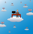 working in the cloud vector image