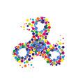 creative abstract hand spinner fidget spinner vector image