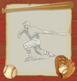 vintage baseball party vector image