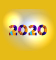 2020 concept colorful word art vector image