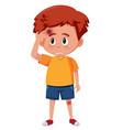 a boy having bruise on head vector image