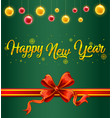 a green new year card template vector image
