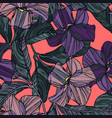 abstract graphic flowers vector image