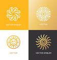 abstract logo design template in trendy linear vector image vector image