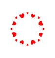 abstract love logo circle hearts frame vector image vector image