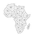 africa map of polygonal futuristic mosaic lines vector image