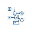 algorithm line icon concept algorithm flat vector image vector image