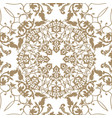 arabic floral swirl line ornament oriental flower