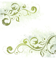 artistic floral motif vector image vector image