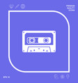 audio cassette icon graphic elements for your vector image vector image