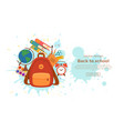 back to school colorful concept vector image vector image