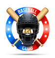 baseball catcher mask sign vector image vector image