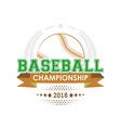 Baseball championship emblem vector image vector image