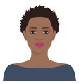 beautiful african american woman vector image vector image